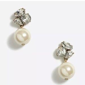 J. Crew crystal drop pearl earrings